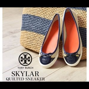 Tory Burch   skylar quilted sneaker